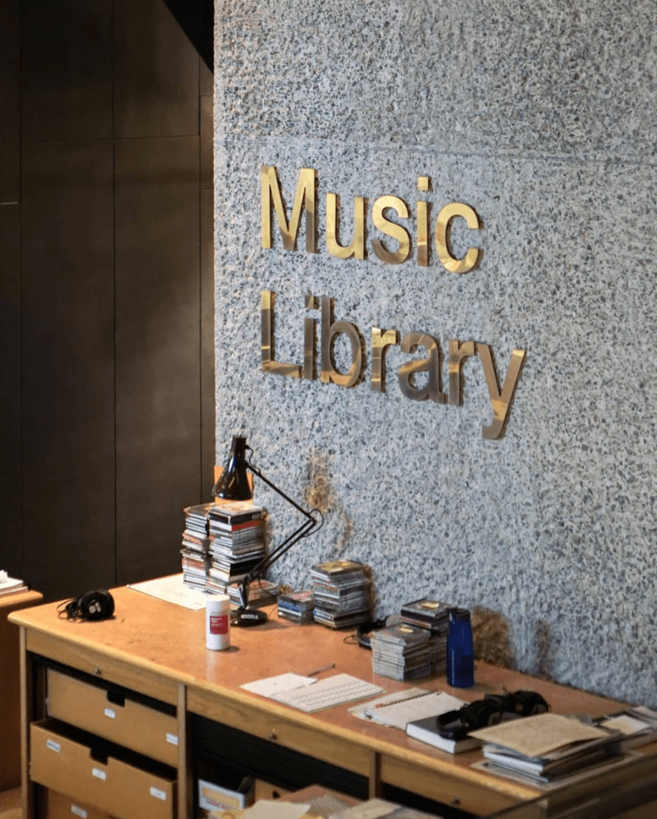 Barbican Music Library Sign